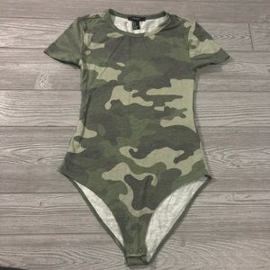 Forever 21 • Camo Super Soft Body Suit Tee